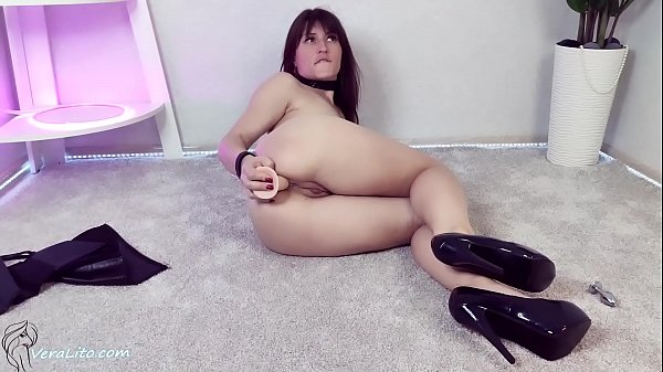 Horny Brunette with Butt Plug Hard Ass Fuck and...