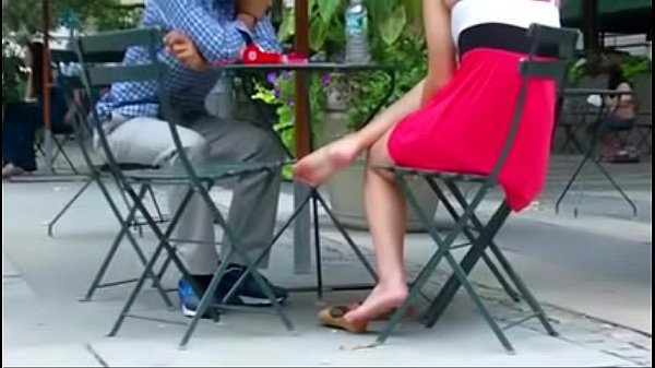 Cams4free.net - Candid Girlfriend at Lunch Shoes Off