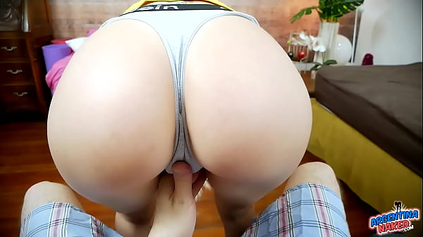 Incredible Ass On Skinny Thigh-Gap Babe