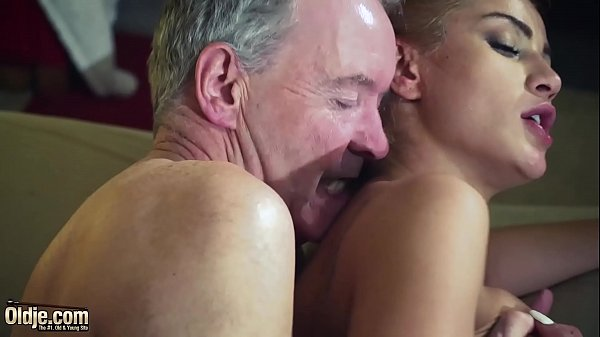 Nasty Cherry kiss is aggressive with old man an...