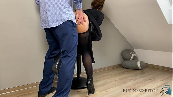 business meeting ends with cum pantyhose, Busin...