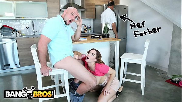 BANGBROS - Natasha Nice Tutors Jmac, With Her Mouth and Pussy, Behind Daddy's Back