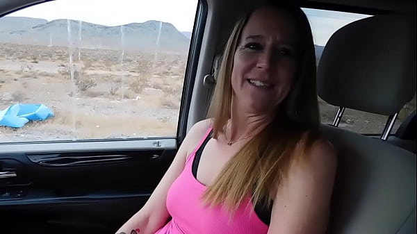 Hitchhiker gives ride a blowjob! - Jen Gayle