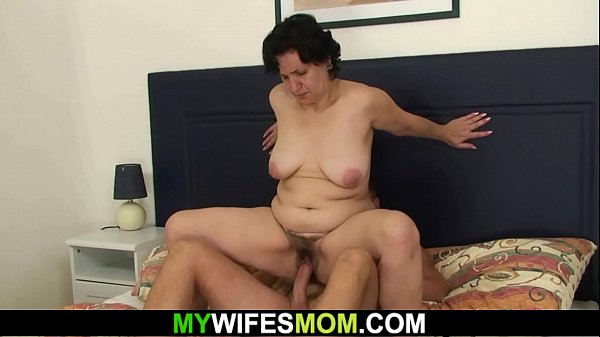 Wife finds her hairy old m. riding his cock!