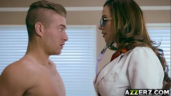 Horny MILF Dr Ariella Ferrera takes a huge cock