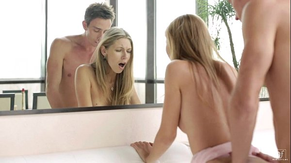 Nubile Films - Ebbi cums on a stiff cocK