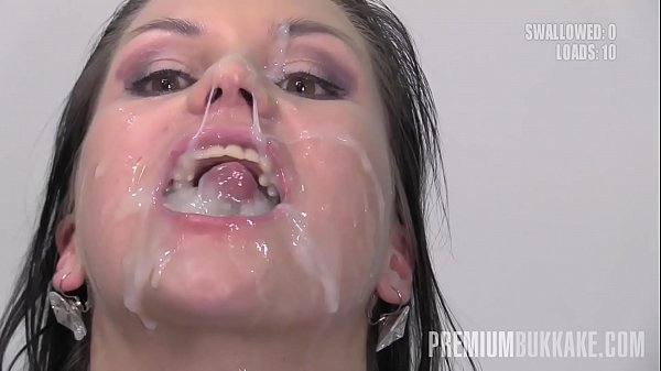 Premium Bukkake - Barbara Bieber swallows 68 huge mouthful cum loads Thumb