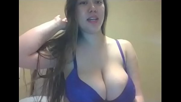 Hot girl showing nice tits on webcam