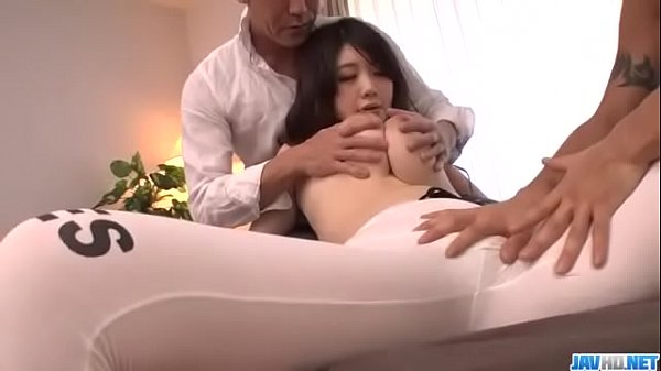Rie Tachikawa serious threesome which makes her...