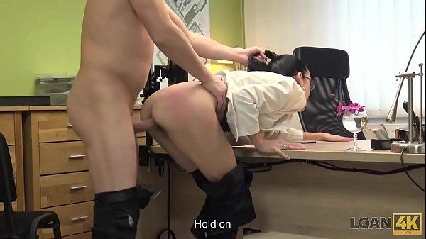 LOAN4K. Brunette babe Elis Dark gives pussy to agent