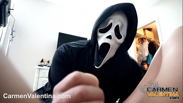 Cumslut Carmen Valentina gets a Halloween Cock and Cum treat