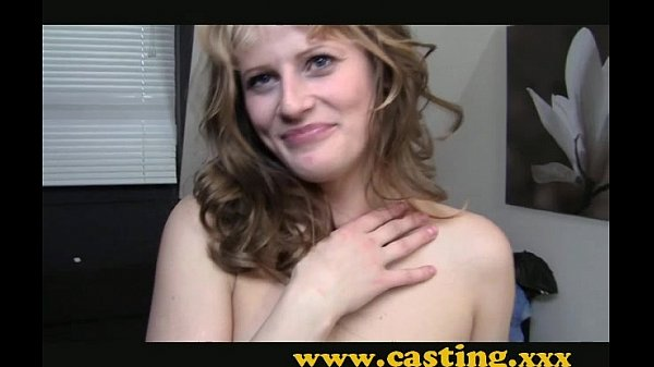 Casting - Amateur kooky babe gets her first tas...