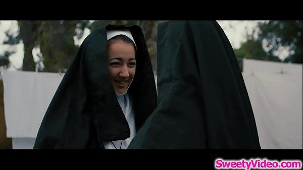 Blonde nun facesitting her brunette exgf