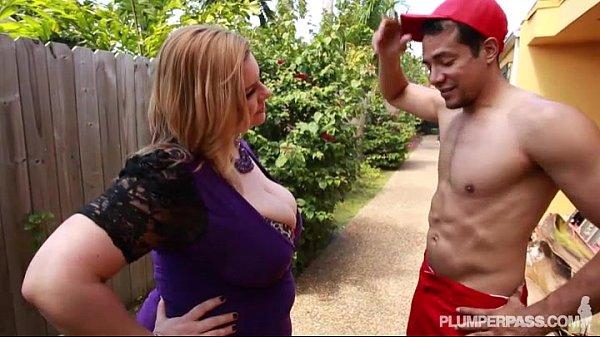 Sexy Plump MILF Tiffany Blake Fucks Dark Pool Boy