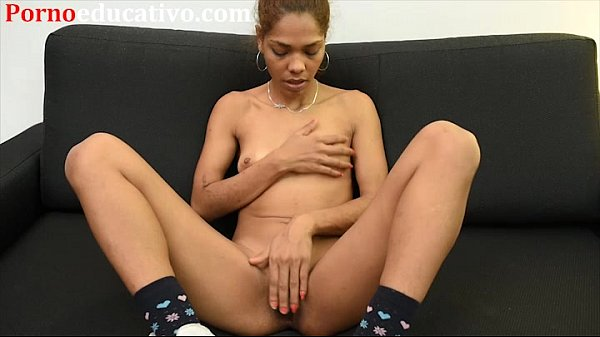 Woman of color masturbates and fingers herself until she cums