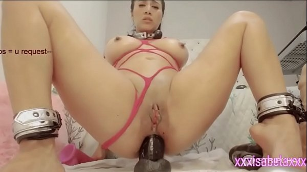 Busty Colombian camgirl uses multiple toys on her asshole anal dp