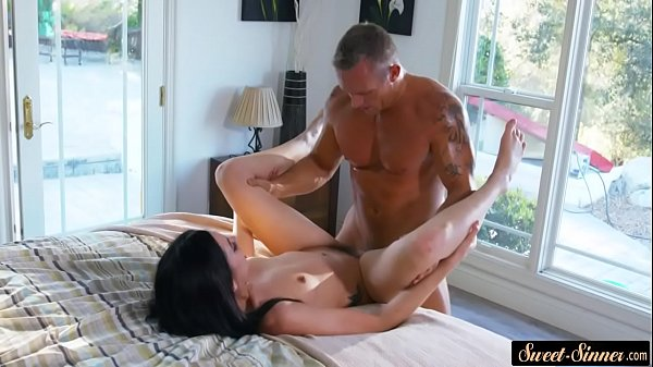 Classy beauty pounded by her horny stepdad