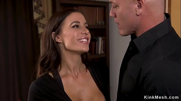Lawyer doggy fucks busty colleague bdsm