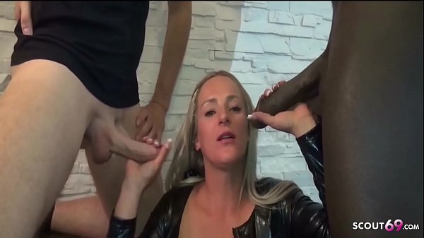 Rough DP Anal Fuck for German Latex Teen by two huge cock Thumb