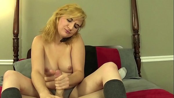 Topless Girl Next Door Gives You a POV Handjob While On The Phone With Her Dad