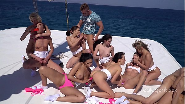 Russian girls hardcore orgy on the boat