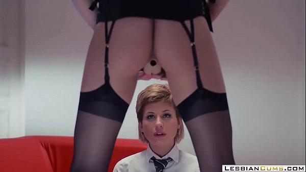 LesbianCUMS.com ⇨ Pervert Lesbian Teacher Seduces College Teen Thumb