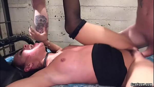 Group of clowns dp fuck petite babe