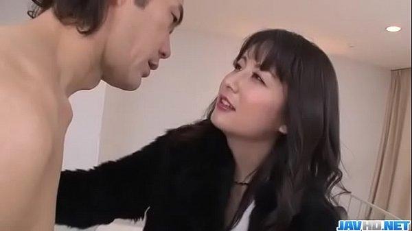 Office bimbo, Ayumi Iwasa, removes her undies for a wild fuck- More at JavHD.net