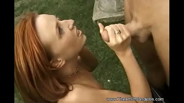 Serious Jerk Job From Happy Girl