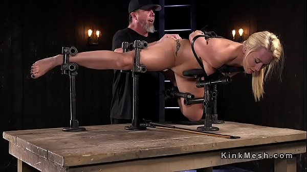 Sexy natural blonde anal fingered in device bondage Thumb