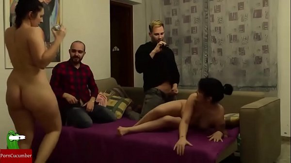 Couples are left to fuck each other and masturb...