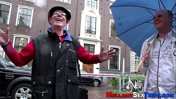 European hooker sucks rod