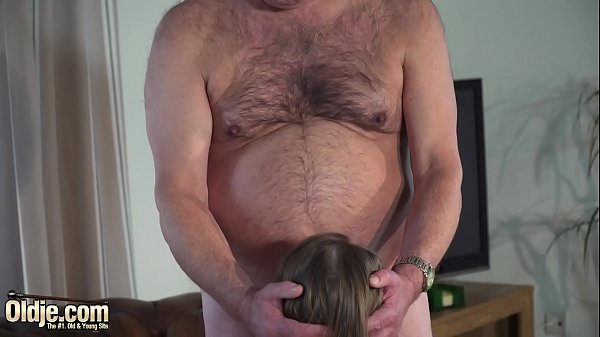 Hot old and young sex between grandpa and sweet...