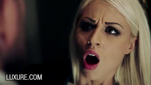 Blonde Chloe Lacourt quickie in ladies room Thumb