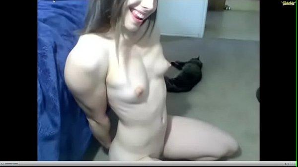 Fit Girl Showing Off On Webcam