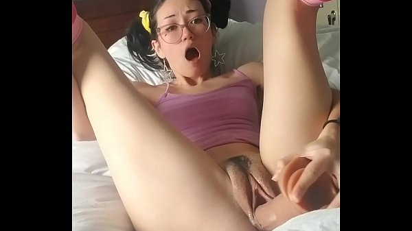 Dumb Candy Whore Sucks and Fucks Herself With A Big Dildo
