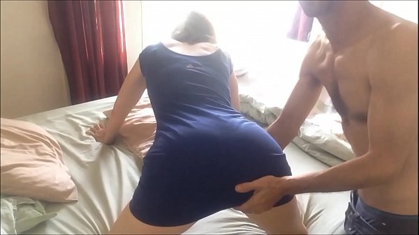 T&A 151 - Clothed Slut in Blue Cotton Dress and...