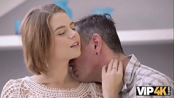 VIP4K. Marina Visconti with natural boobs makes...