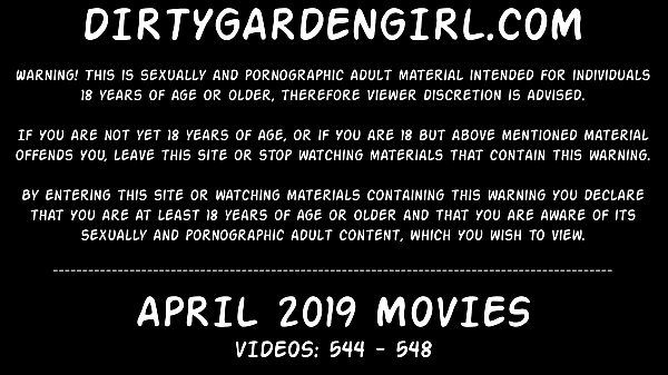 APRIL 2019 updates at Dirtygardengirl - anal fisting prolapse extreme dildos!!!
