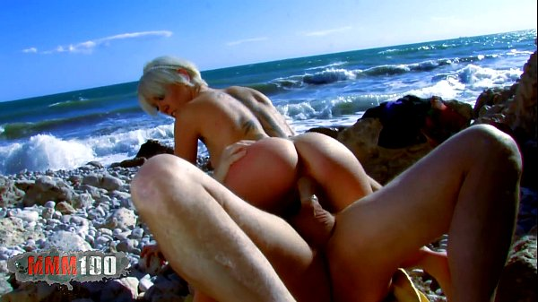 French blonde slut fucking and squirting at the...