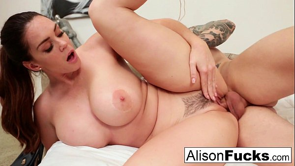 Alison Tyler gets cum on her tits