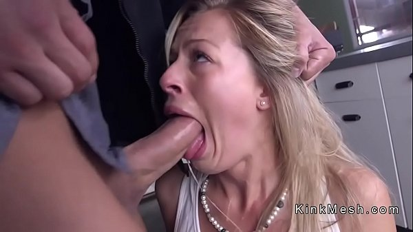 Sweat blonde anal fucked in bondage