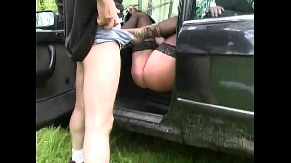Outdoor sex on the car