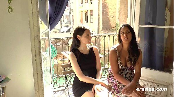 Beautiful Brunette Lesbians In Erotic Lovemaking Session