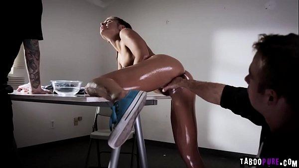 Boyfriend must watch his girlfriend get brutally fisted!