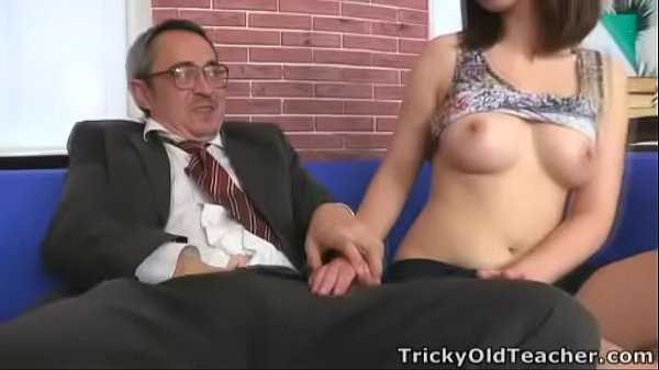 Tricky Old Teacher - Elena struggles for her grades in her teachers class Thumb