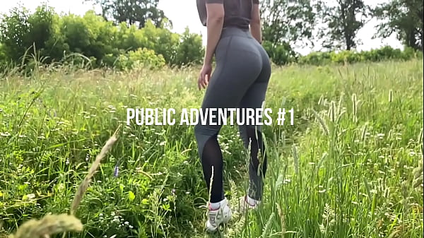 My sexy girlfriend outdoors sucking and swallow...