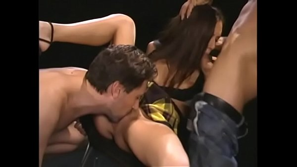 Playful stud walked darkhaired bitch Taylor Rain with gagged mouth on a leash for out-of-season breeding