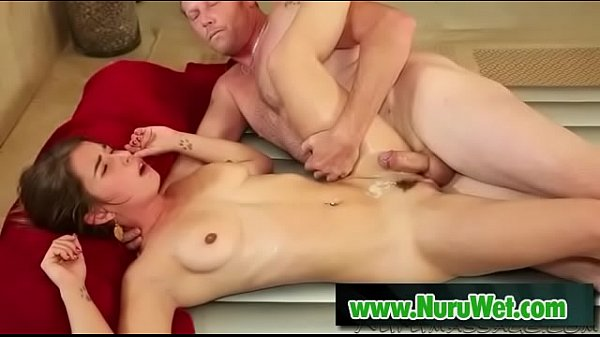 Dick Chibbles & Bunny Freedom hard fucking covered in nuru gel Thumb