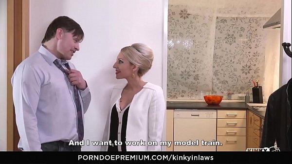KINKY INLAWS - Stepson gets to please Czech stepmom Vanessa K. in steamy forbidden fuck thumbnail